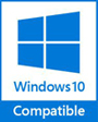 Compatible with Windows 10